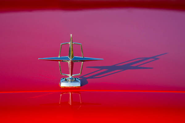 Vintage Hood Ornaments Photograph - 1967 Lincoln Continental Hood Ornament -158c by Jill Reger