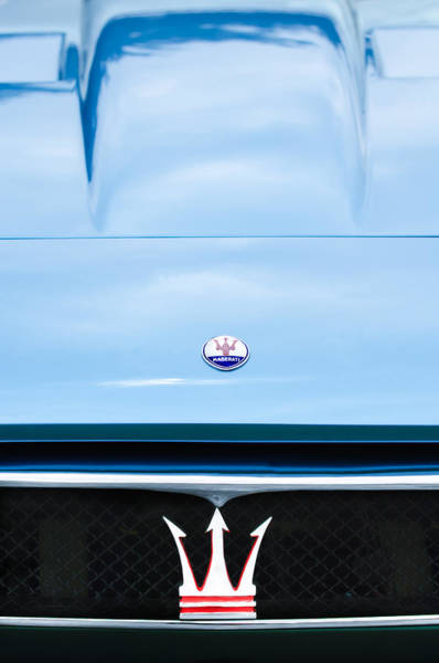 Photograph - 1967 Maserati Ghibli Grille Emblem by Jill Reger