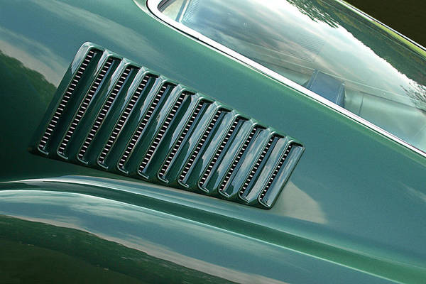 Photograph - 1967 Mustang Fastback Vent by Gill Billington