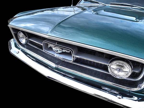 Photograph - 1967 Mustang Grille by Gill Billington