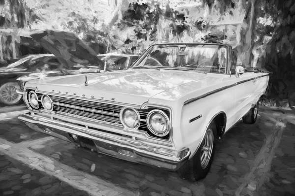 Photograph - 1967 Plymouth Belevedere 2 Convertible Painted Bw by Rich Franco