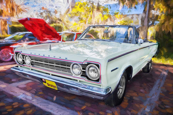 Photograph - 1967 Plymouth Belevedere 2 Convertible Painted  by Rich Franco