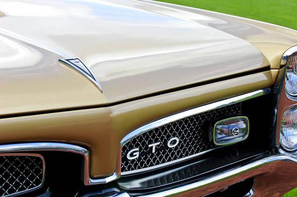 1967 Photograph - 1967 Pontiac Gto Grille Emblem 2 by Jill Reger