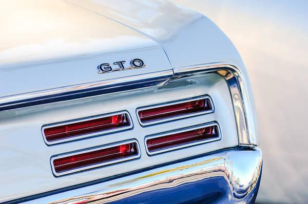 1967 Photograph - 1967 Pontiac Gto  Taillight Emblem by Jill Reger