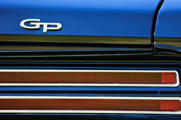 Photograph - 1967 Pontiac Hurst Grand Prix Convertible Taillight Emblem -3584c by Jill Reger