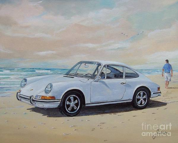 Painting - 1967 Porsche 911 S Coupe by Sinisa Saratlic
