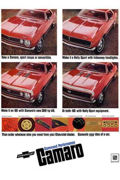 A To Z Digital Art - 1968 Chevy Camaro by Digital Repro Depot
