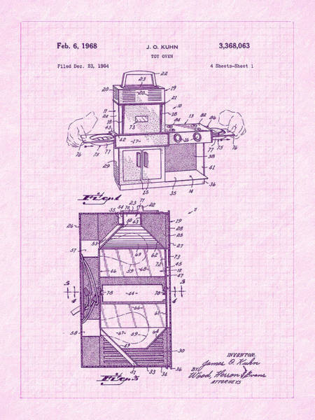 Photograph - 1968 Easy Bake Toy Oven Patent Art by Barry Jones