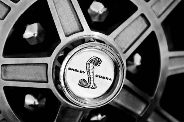 Photograph - 1968 Ford Shelby Cobra Gt500 Kr Convertible Wheel Emblem by Jill Reger