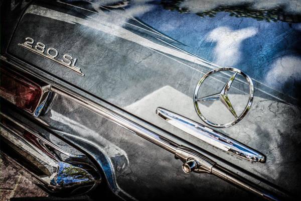 Wall Art - Photograph - 1968 Mercedes-benz 280 Sl Roadster Rear Emblem -0310ac by Jill Reger
