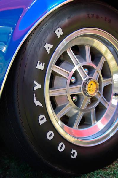 Photograph - 1968 Shelby Cobra Gt500 Kr Convertible 427 Ci Wheel Cobra Emblem -3267c by Jill Reger