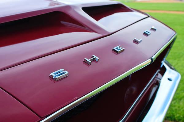 Photograph - 1968 Shelby Gt350 Hood Emblem by Jill Reger
