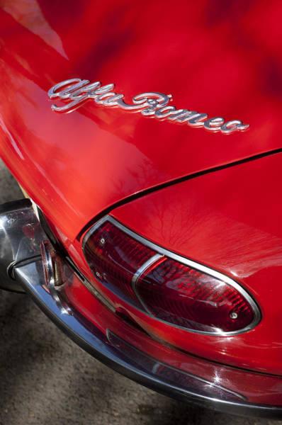 Photograph - 1969 Alfa Romeo 1750 Spider Taillight Emblem by Jill Reger