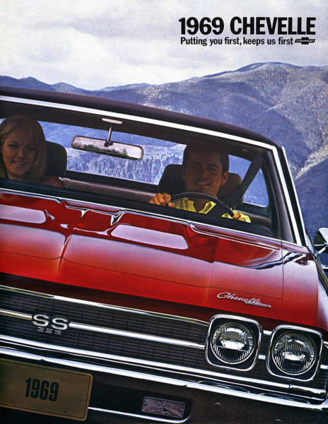 Clear Coat Wall Art - Digital Art - 1969 Chevelle Ss 396 by Digital Repro Depot