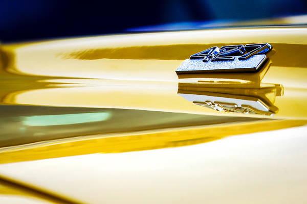 Photograph - 1969 Chevrolet Camaro 427 Hood Emblem - 0879c by Jill Reger