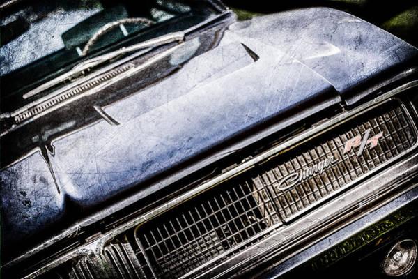 R Photograph - 1969 Dodge Charger R-t Emblem -1135ac by Jill Reger