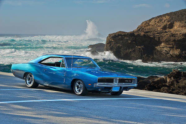 Wall Art - Photograph - 1969 Dodge Charger Rt At Oceanside by Dave Koontz