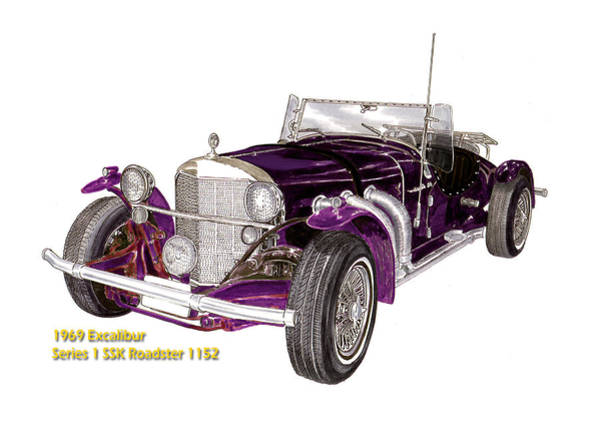 0 Painting - 1969 Excalibur Ss Roadster by Jack Pumphrey