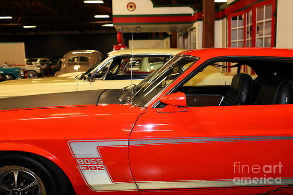 Photograph - 1969 Ford Mustang Boss 302 5d25667 by Wingsdomain Art and Photography