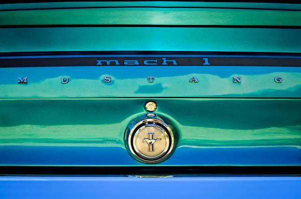 Photograph - 1969 Ford Mustang Mach 1 Rear Emblem by Jill Reger
