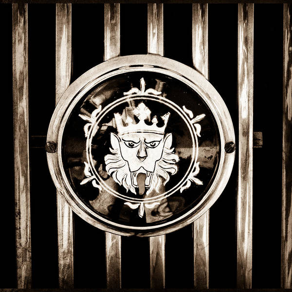 Photograph - 1969 Morgan Roadster Grille Emblem by Jill Reger