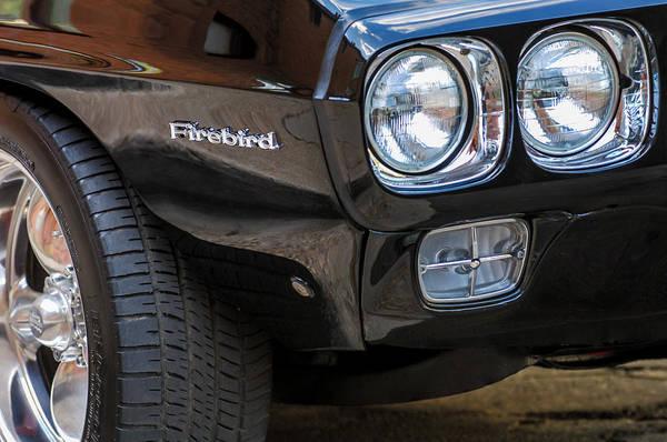 Firebird Photograph - 1969 Pontiac Firebird 400 Side Emblem by Jill Reger