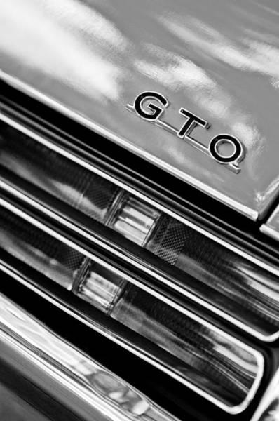Photograph - 1969 Pontiac Gto Judge Taillight Emblem by Jill Reger