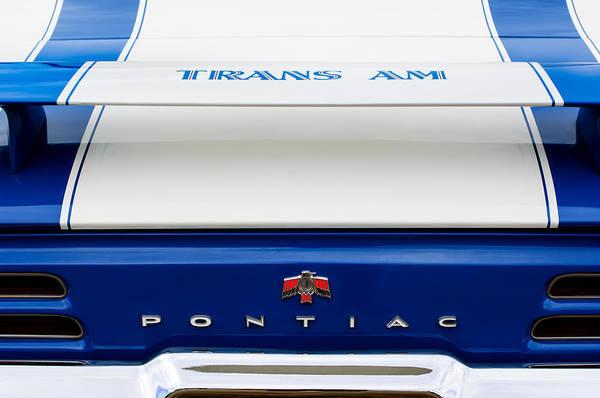 Photograph - 1969 Pontiac Trans Am Tail Fin Emblem by Jill Reger