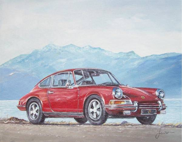Painting - 1969 Porsche 911 2.0 S by Sinisa Saratlic