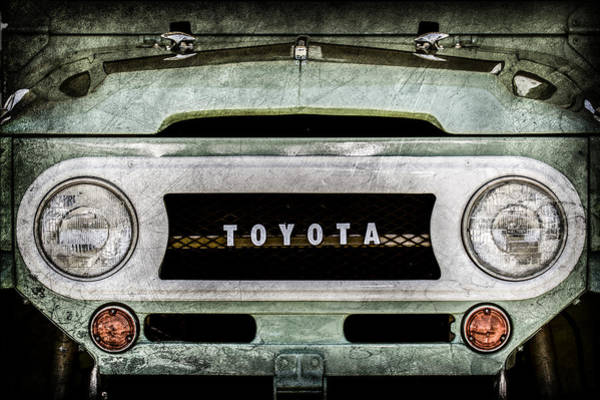 Cruiser Wall Art - Photograph - 1969 Toyota Fj-40 Land Cruiser Grille Emblem -0444ac by Jill Reger