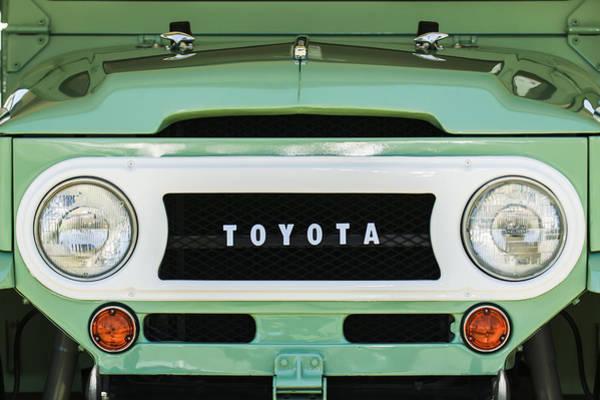 Photograph - 1969 Toyota Fj-40 Land Cruiser Grille Emblem -0444c by Jill Reger