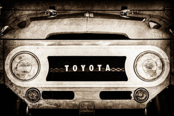 Photograph - 1969 Toyota Fj-40 Land Cruiser Grille Emblem -0444s by Jill Reger