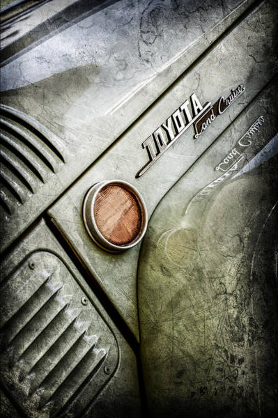 Photograph - 1969 Toyota Fj-40 Land Cruiser Side Emblem -0423ac by Jill Reger