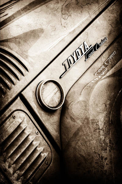 Photograph - 1969 Toyota Fj-40 Land Cruiser Side Emblem -0423s by Jill Reger