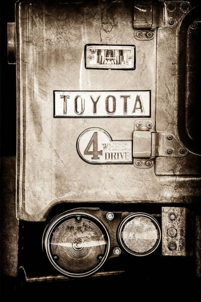 Photograph - 1969 Toyota Fj-40 Land Cruiser Taillight Emblem -0417s by Jill Reger