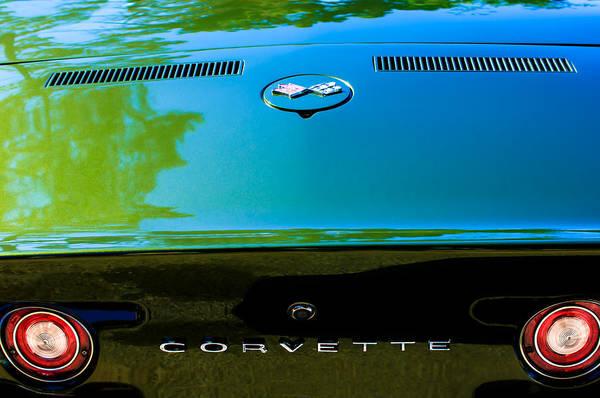 Photograph - 1970 Chevrolet Corvette Lt-1 Convertible Taillight Emblem by Jill Reger