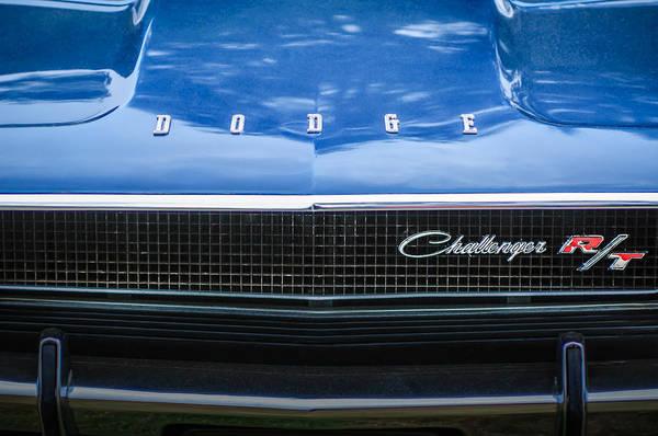 Photograph - 1970 Dodge Challenger Rt Convertible Grille Emblem -0545c by Jill Reger