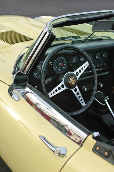Photograph - 1970 Jaguar Xk Type-e Steering Wheel by Jill Reger