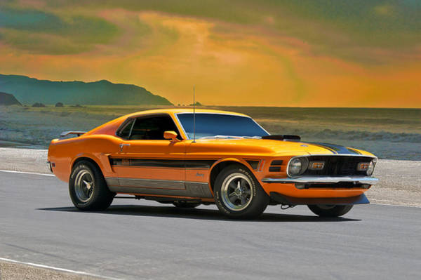 Wall Art - Photograph - 1970 Mustang Mach 1 by Dave Koontz