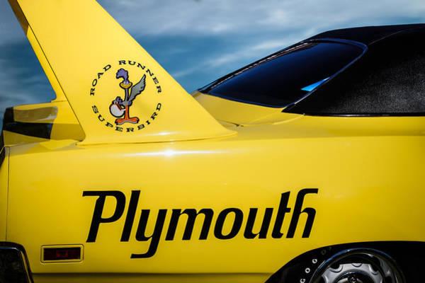 Plymouth Photograph - 1970 Plymouth Superbird Emblem -0520c by Jill Reger