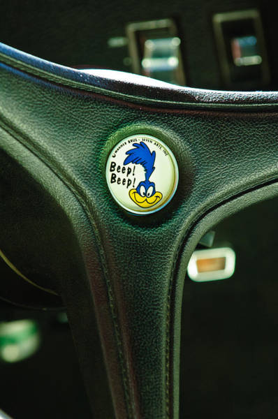 Plymouth Photograph - 1970 Plymouth Superbird Steering Wheel Emblem by Jill Reger