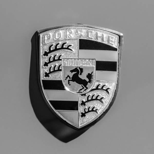 Photograph - 1970 Porsche 911t 2.2 Coupe Emblem -0764bw55 by Jill Reger