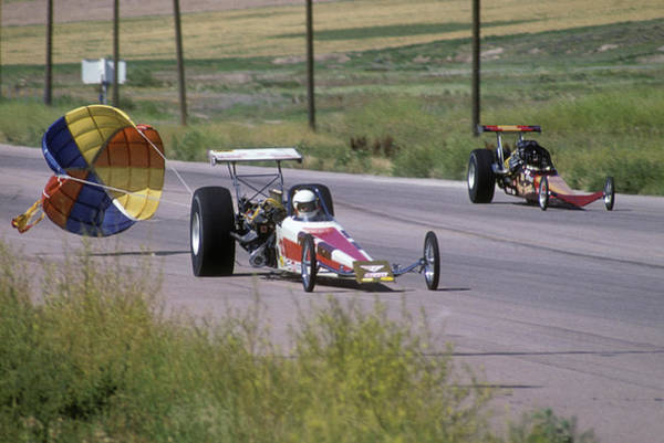 Drag Racing Photograph - 1970s 1980s Drag Race Two Alcohol by Vintage Images