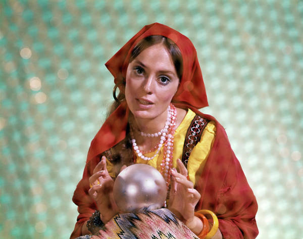 Seer Wall Art - Photograph - 1970s Gypsy Woman Fortuneteller Fortune by Vintage Images