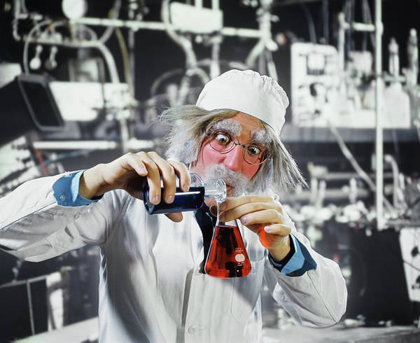 Researcher Wall Art - Photograph - 1970s Man Crazy Loony Mad Scientist by Vintage Images