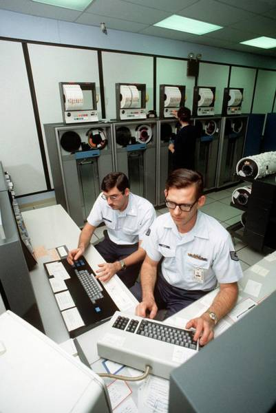 Wall Art - Photograph - 1970s Military Computing by Us Air Force