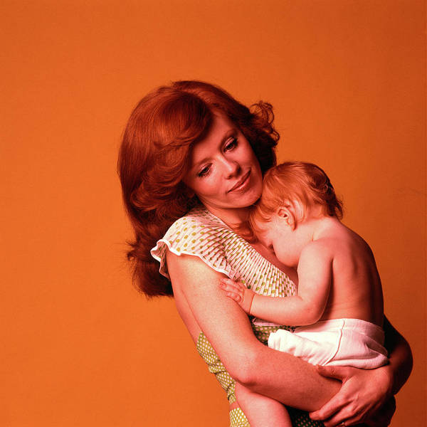 Parental Care Photograph - 1970s Pensive Smiling Red Headed Mother by Vintage Images