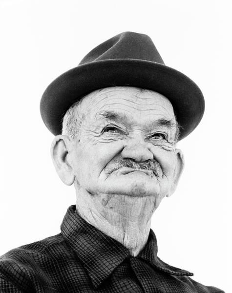 Crank Photograph - 1970s Portrait Elderly Wrinkled Man by Vintage Images
