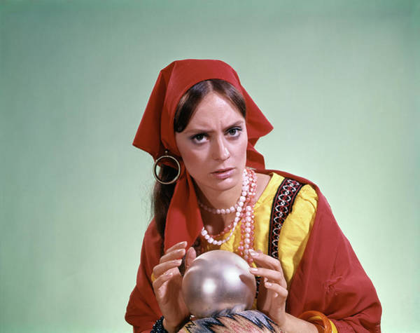 Seer Wall Art - Photograph - 1970s Psychic Crystal Ball Fortune by Vintage Images