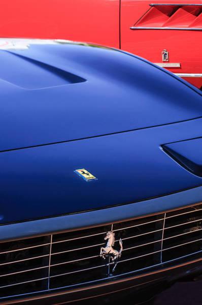 Photograph - 1971 Ferrari 365 Gtc-4 Grille Emblem -1541c by Jill Reger
